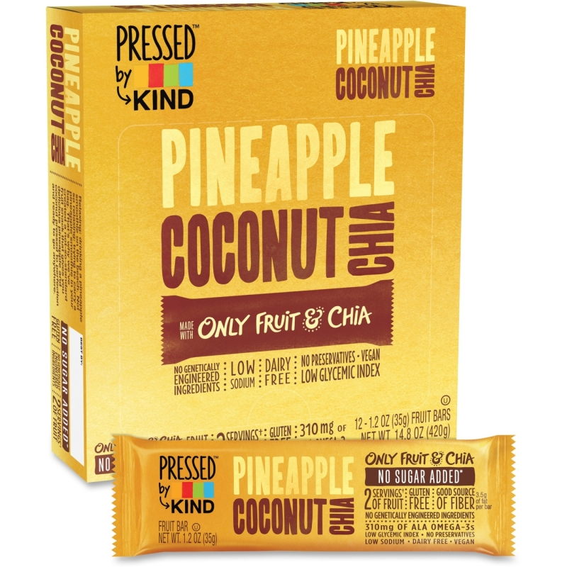 KIND Pressed Pineapple Coconut Chia Fruit Bar 24200 KND24200