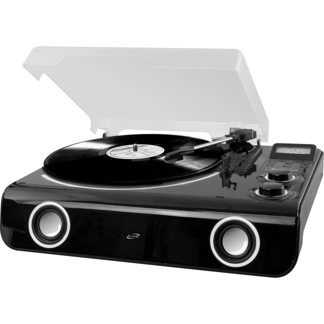 iLive All-in-one Turntable with Bluetooth, Radio & Stereo Speakers ITTB775B