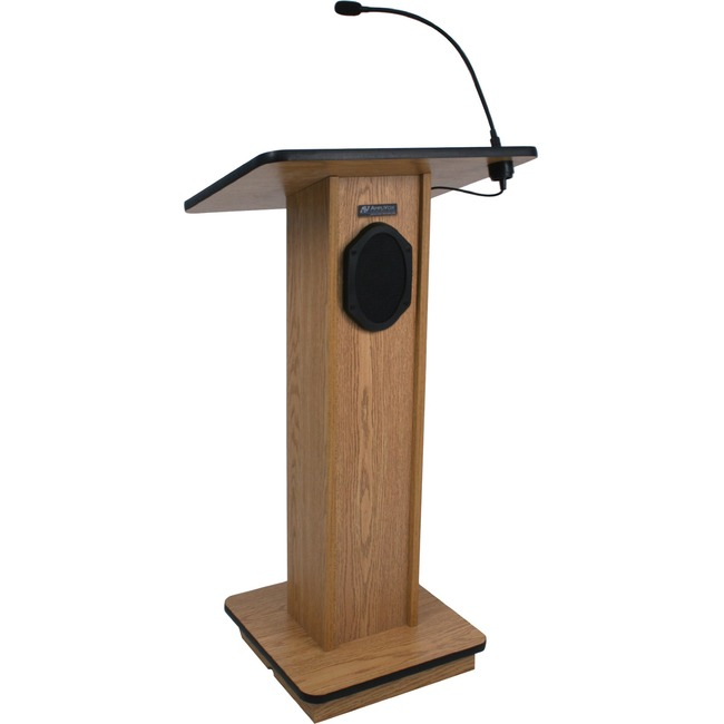 AmpliVox Elite Lectern with Sound System S355-WT S355