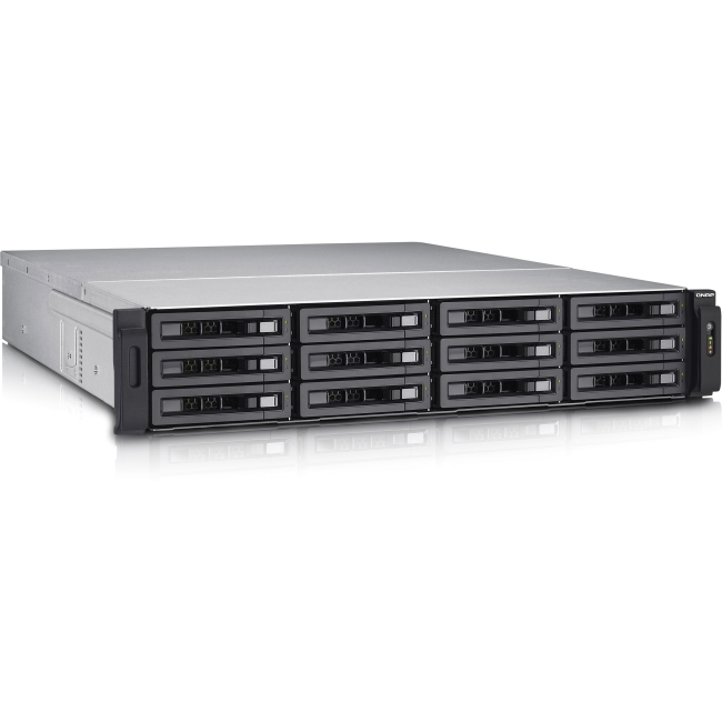 QNAP 12-bay High Performance Unified Storage with Built-in 10GbE TS-EC1280U-E3-4GE-R2-US TS-EC1280U-E3
