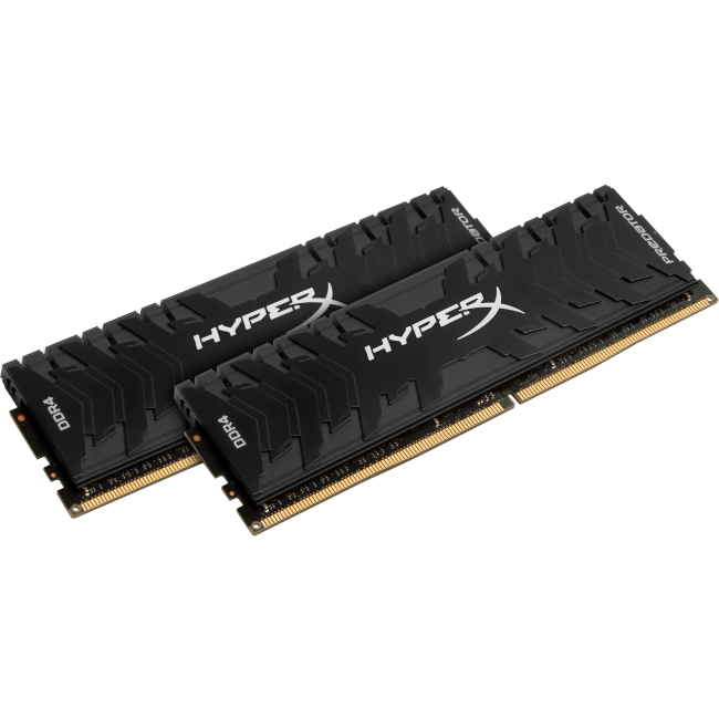 Kingston Predator Memory Black - 8GB Kit (2x4GB) - DDR4 3200MHz Intel XMP CL16 DIMM HX432C16PB3K2/8