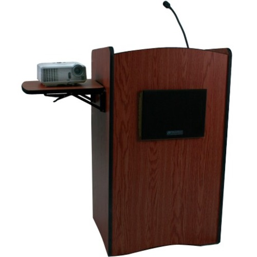 AmpliVox Multimedia Computer Lectern with Sound System SS3230-WT SS3230