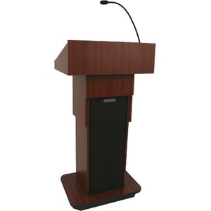 AmpliVox Executive Adjustable Column Non-sound Lectern W505A-WT W505A