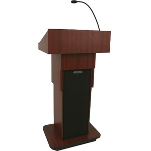 AmpliVox Executive Adjustable Column Non-sound Lectern W505A-CH W505A