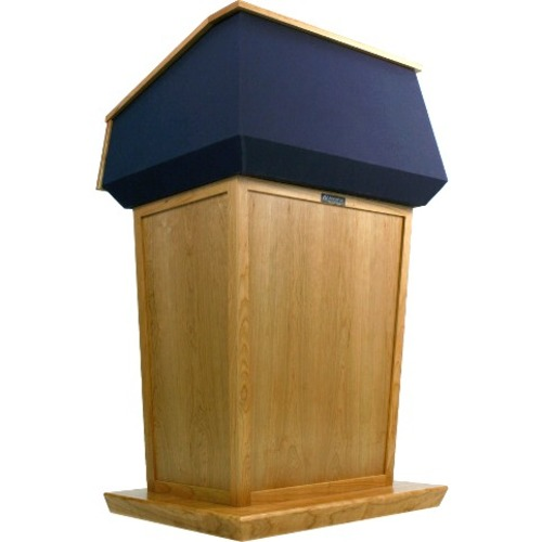 AmpliVox Patriot Plus Adjustable Height Lectern SN3045A-WT SN3045A
