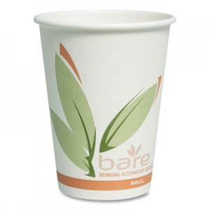 Dart Bare by Solo Eco-Forward Recycled Content PCF Paper Hot Cups, 12 oz, 1,000/Ct SCC412RCN 412RCN-J8484