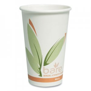 Dart Bare by Solo Eco-Forward Recycled Content PCF Paper Hot Cups, 16 oz, 1,000/Ct SCC316RC 316RC-J8484