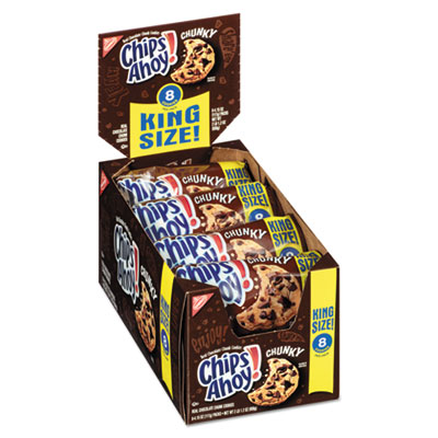 Nabisco Chips Ahoy Chocolate Chip Cookies, King Size, 4.15 oz Pack, 8/Box CDB05085 05085