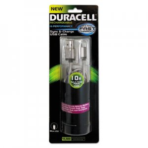 Duracell Sync And Charge Cable, Micro USB, 10 ft ECAPRO907 PRO907