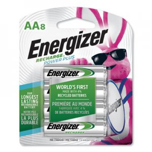Energizer NiMH Rechargeable Batteries, AA, 8 Batteries/Pack EVENH15BP8 NH15BP-8
