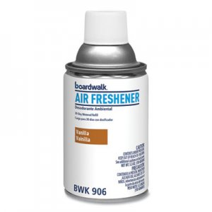 Boardwalk Metered Air Freshener Refill, Vanilla Bean, 5.3 oz Aerosol, 12/Carton BWK906