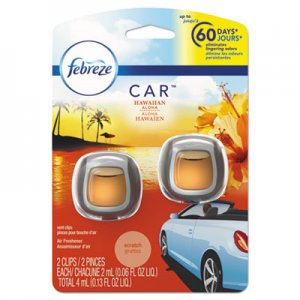 Febreze CAR Air Freshener, Hawaiian Aloha, 2 ml Clip, 2/Pack PGC94734PK 94734PK