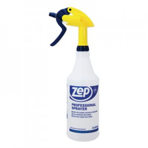 Zep Commercial Professional Spray Bottle w/Trigger Sprayer, 32 oz, Clear Plastic ZPE1042202 1042202
