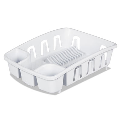 Office Settings Drain Rack, White, Plastic, 5 3/8 x 17 5/8 x 3 OSIDR01WH DR01WH