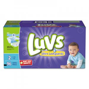 Luvs Diapers w/Leakguard, Size 2: 12 to 18 lbs, 96/Carton PGC85928CT 85928