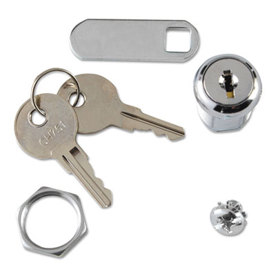 Rubbermaid Commercial Replacement Lock & Key for Locking Janitor Cart Cabinet SGS6181L2 FG6181L20000