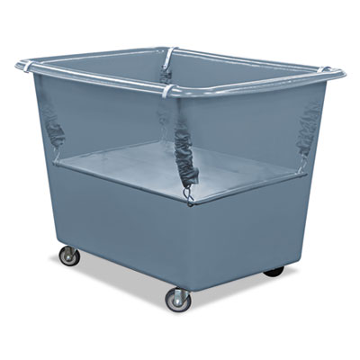 Royal Basket Trucks Poly Spring Lift, 15 x 25 1/2, 6 Bushel, Vinyl/Steel, Gray RBTR06GGXPSN R06GGXPSN