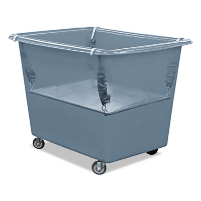 Royal Basket Trucks Poly Spring Lift, 17 x 29 1/2, 8 Bushel, Vinyl/Steel, Gray RBTR08GGXPSN R08GGXPSN