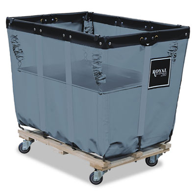 Royal Basket Trucks Spring Lift, 24 x 36, 16 Bushel, Vinyl/Steel, Gray RBTR16GGXSLN R16GGXSLN