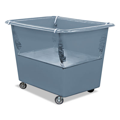 Royal Basket Trucks Poly Spring Lift, 23 x 35 1/2, 16 Bushel, Vinyl/Steel, Gray RBTR16GGXPSN R16GGXPSN