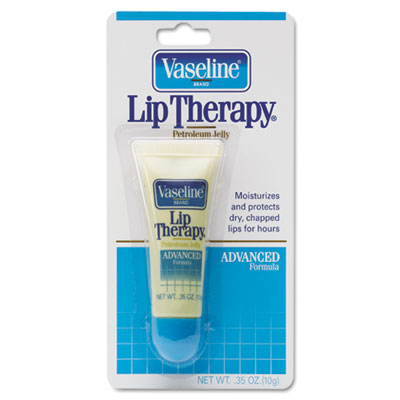 Vaseline Lip Therapy Advanced Lip Balm, 0.35 oz Tube, Regular Flavor, 72/Carton DVOCB750000 DRK CB750000