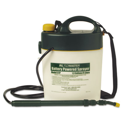 R. L. Flomaster Portable Battery-Powered Sprayer w/Telescoping Wand, 1.3 Gallon, Black/White RLF5BP RLF 5BP
