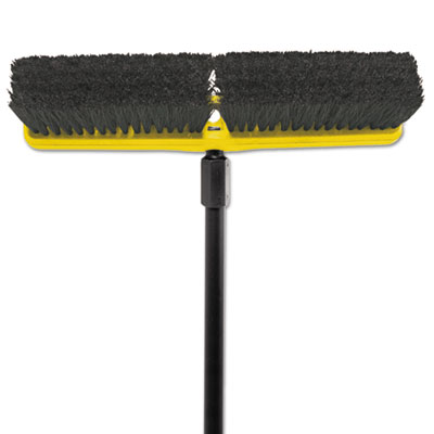"Rubbermaid Commercial Tampico-Bristle Medium Floor Sweep, 18""Brush,3""Bristles, Black RCP9B07BLA FG9B0700BLA"