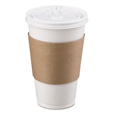 LBP Coffee Clutch Hot Cup Sleeve, Brown, 1200/Carton LBP6106 LBP 6106