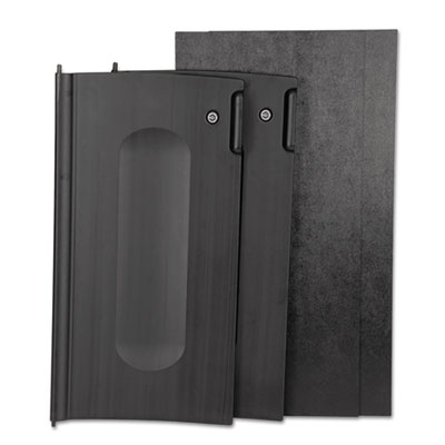 Rubbermaid Commercial Locking Cabinet Door Kit, For Use With RCP Cleaning Carts, Black RCP9T85BLA 9T85BLA