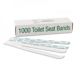 "Bagcraft Sani/Shield Printed Toilet Seat Band, Paper, Blue/White, 16"" Wide x 1-1/2"" Deep BGC300591 BGC 300591"