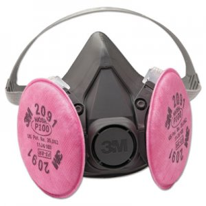 3M Half Facepiece Respirator 6000 Series, Reusable MMM6391 6391