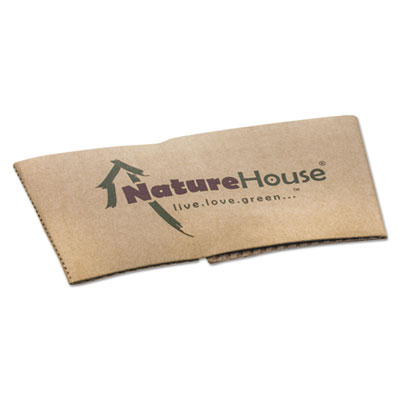 NatureHouse Hot Cup Sleeves, Fits 10oz, 12oz, 16oz, 20oz Cups, 1000/Carton SVAS02CT NAHS02