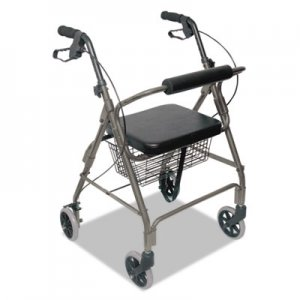 DMI Ultra Lightweight Rollator, Titanium, Aluminum, Adjustable BGH50110124100 50110124100