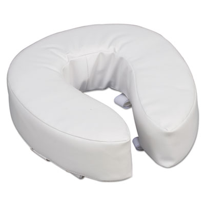 "DMI Vinyl Cushion Toilet Seat, 4"" Riser, White BGH52012471900 52012471900"