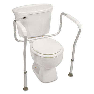 HealthSmart Toilet Safety Arm Support with BactiX Antimicrobial, White, 250 lb Capacity BGH52198049601 52198049601