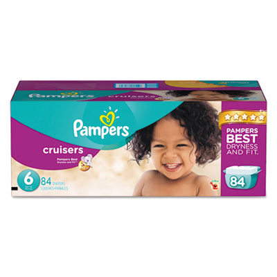 Pampers Cruisers Diapers, Size 6: 35 - 43 lbs, 84/Carton PGC86285CT 10037000862854