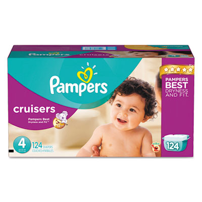 Pampers Cruisers Diapers, Size 4: 22 - 37 lbs, 124/Carton PGC86283CT 10037000862830