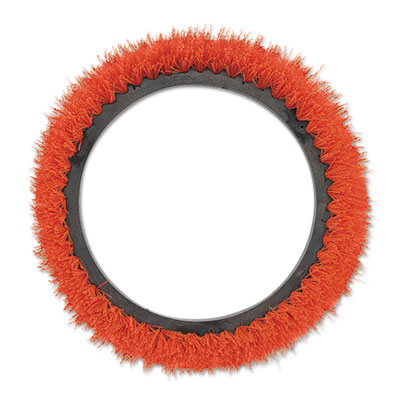 "Oreck Commercial Orbiter Smooth Texture Brush, 12"" dia, Orange ORK237047 237047"