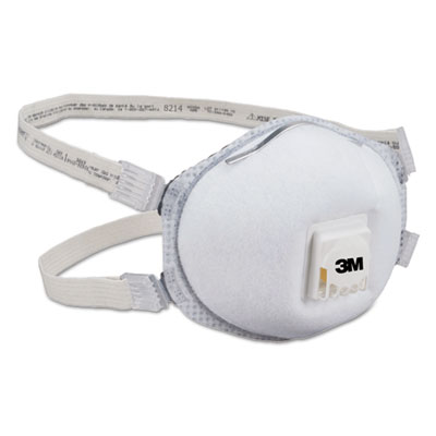 3M Particulate Respirator 8214, N95, 10/Box MMM8214 142-8214