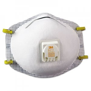 3M Particulate Respirator 8211, N95, 10/Box MMM8211 142-8211