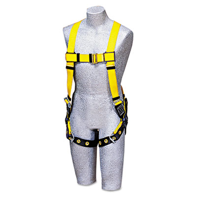 DBI-SALA Full-Body Harness, Tongue Buckles, Back D-Ring, Universal, 420lb Capacity DBS1102000 1102000