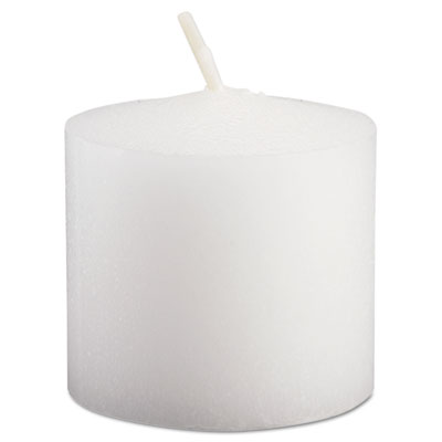 "FancyHeat Votive Candles, 10 Hour Burn, 1-1/3""h, White, 72/Pack FHCF400 FHC F400"