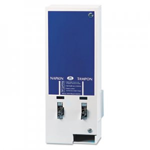 Hospital Specialty Co Electronic Vendor Dual Sanitary Napkin/Tampon Dispenser, Coin Operated, Metal HOSED125 ED1-25