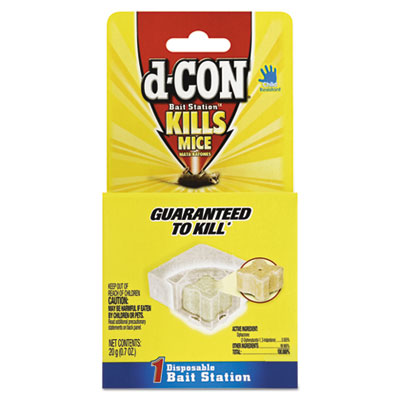 d-CON Disposable Bait Station, 3 x 3 x 1 1/4, 0.7 oz, 12/Carton RAC89543 89543