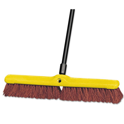 "Rubbermaid Commercial Heavy Duty Floor Sweep, 24"" x 3"", Brown, Polypropylene RCP9B18BRO FG9B1800BRN"