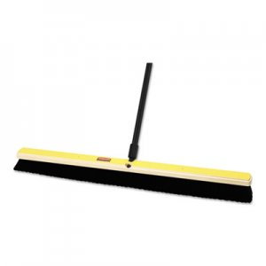 "Rubbermaid Commercial Tampico-Bristle Medium Floor Sweep, 24""Brush, 3""Bristles, Black, 2/Carton RCP9B13BLACT FG9B1300BLA"
