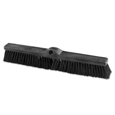 "Rubbermaid Commercial Heavy Duty Push Broom Rough Surface, 24"" x 3"", Black, Polypropylene, 12/Carton RCP1861212CT 1861212"