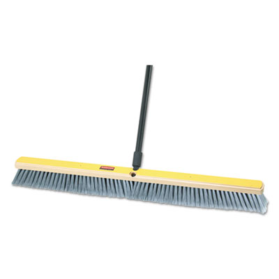 "Rubbermaid Commercial Fine Floor Sweeper, Polypropylene Fill, 36"" Brush, 3"" Bristles, Gray, 2/Carton RCP9B04GRACT FG9B0400GRAY"