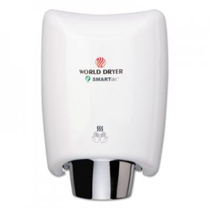 WORLD DRYER SMARTdri Hand Dryer, Aluminum, White WRLK974A2 K-974A2