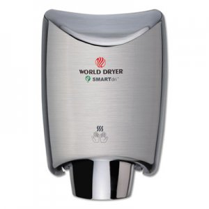 WORLD DRYER SMARTdri Hand Dryer, Stainless Steel, Brushed WRLK973A2 K-973A2